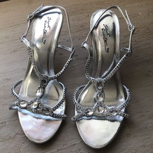Silver Blingy Strappy Sandals